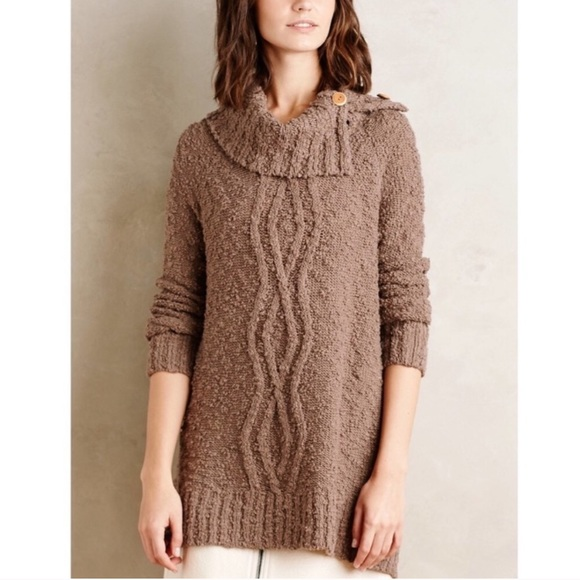 Moth Knit Boucle Sweater Cowlneck